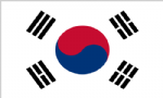South Korea Boat / Courtesy Country Flag.